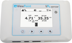 ViewPoint Temperature Monitoring System Sensor Front LCD